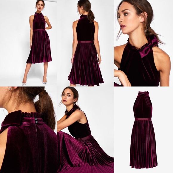 60a65f028f25 Cornela Pleated Velvet Midi Dress. Listing Price   200